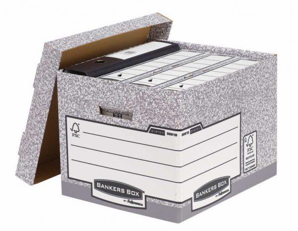 Karton archiwizacyjny Pudło ze zdejmowanym wiekiem FastFold Fellowes