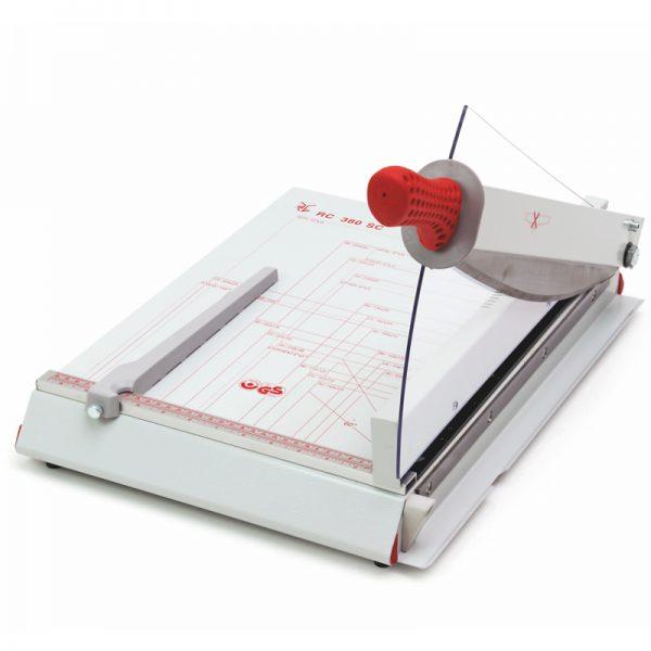 gilotyna rc 380 sc z automatycznym dociskiem papieru