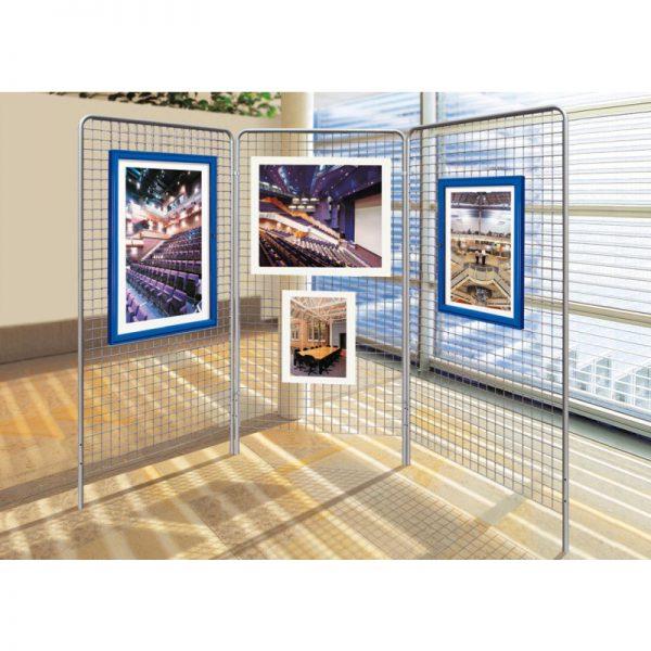 metalowa konstrukcja ekspozycyjna do ram i plakatów