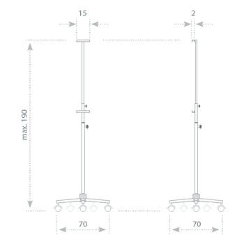stojak mobilny s01 wymiary