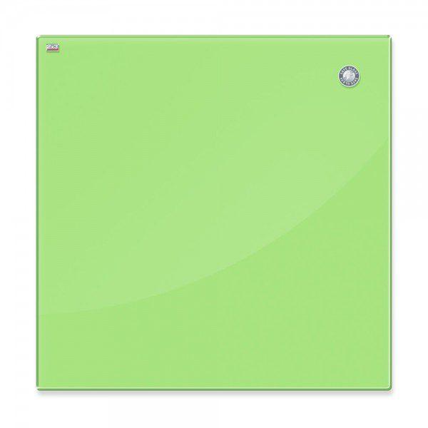 tablica szklana magnetyczna jasnozielona 45x45cm zaokraglone narozniki bezpieczne szklo esg