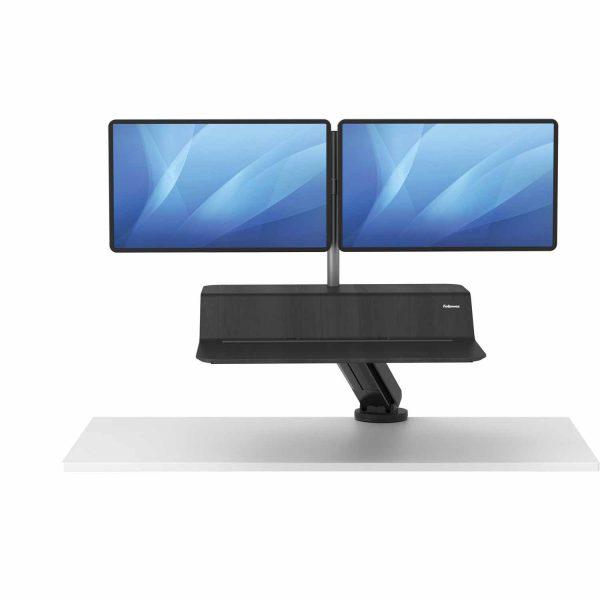 www 8081601 Sit Stand Lotus RT 2 monitory czarny F Up noProp