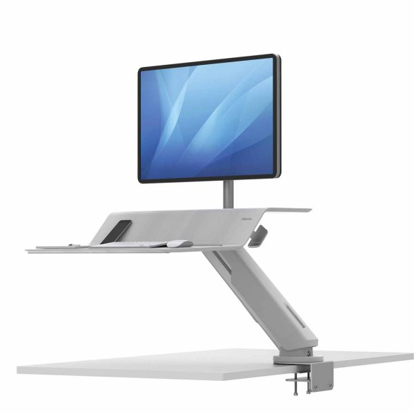 www 8081701 Sit Stand Lotus RT 1 monitor bialy L Sp