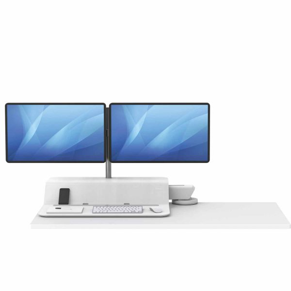 www 8081801 Sit Stand Lotus RT 2 monitory bialy F Dn