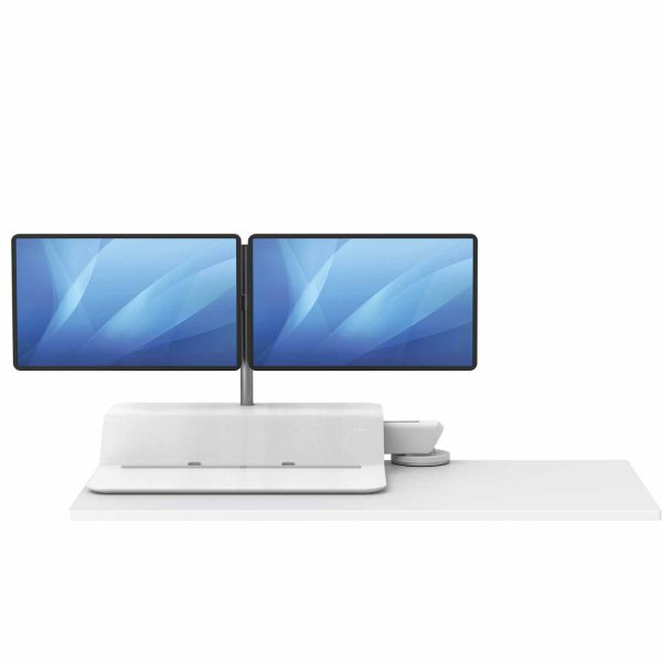 www 8081801 Sit Stand Lotus RT 2 monitory bialy F Dn noProp