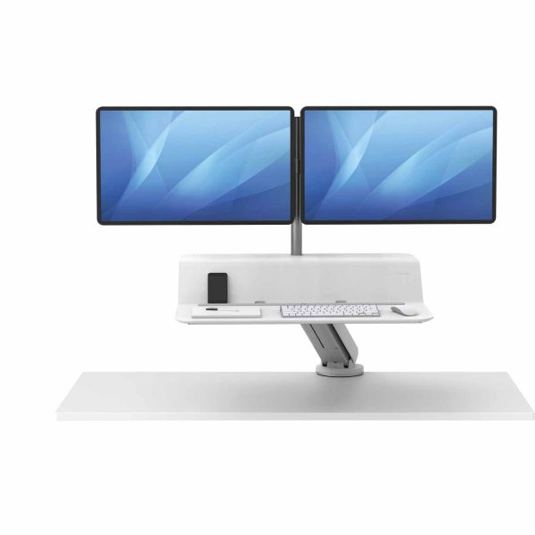 www 8081801 Sit Stand Lotus RT 2 monitory bialy F Up