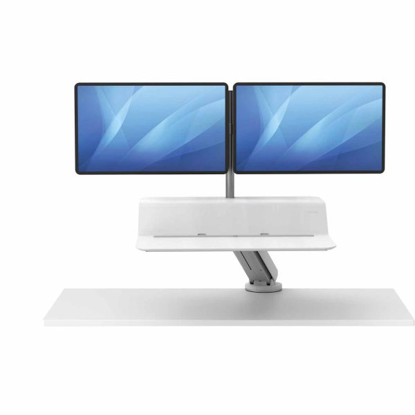 www 8081801 Sit Stand Lotus RT 2 monitory bialy F Up noProp