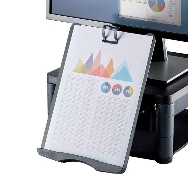 www 91695 Podstawa pod monitor z szuflada copyholderem Graphite DocSupport