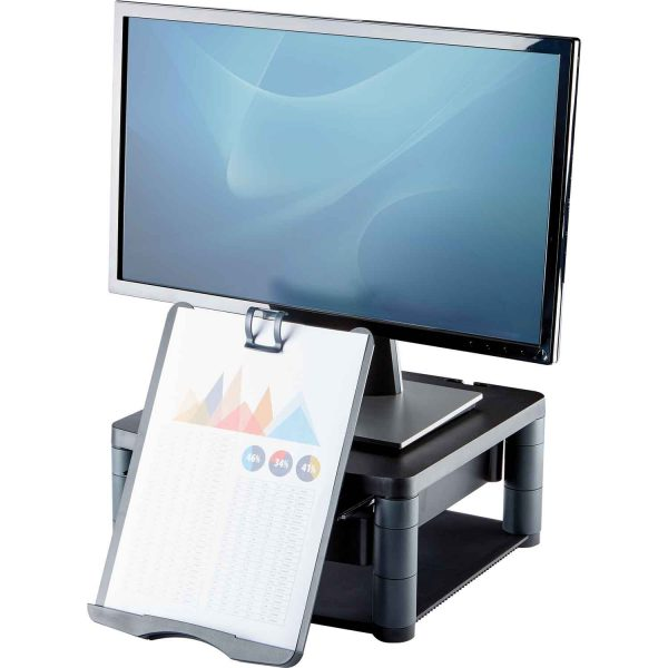 www 91695 Podstawa pod monitor z szuflada copyholderem Graphite Screen Document L