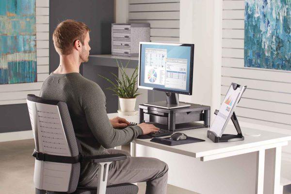 www 91695 Podstawa pod monitor z szuflada copyholderem LS Person