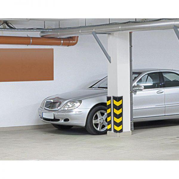 piankowe zabezpiecznie narożnika w garażu prosty