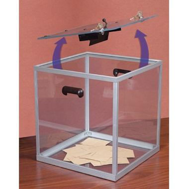 urna wyborcza pleksi otwieranie