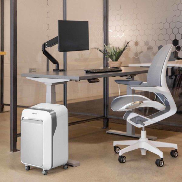 niszczarka fellowes LX 211 biała w biurze