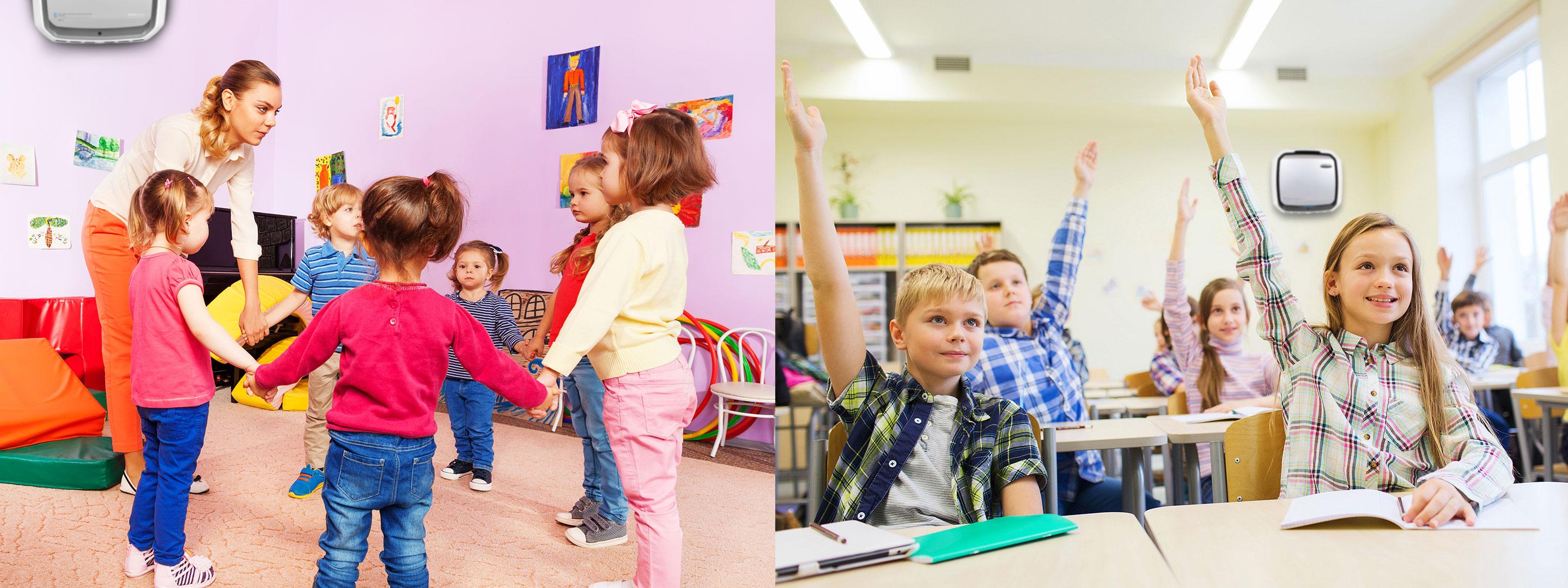 Oczyszczacz powietrza do szkoły, przedszkola i żłobka
