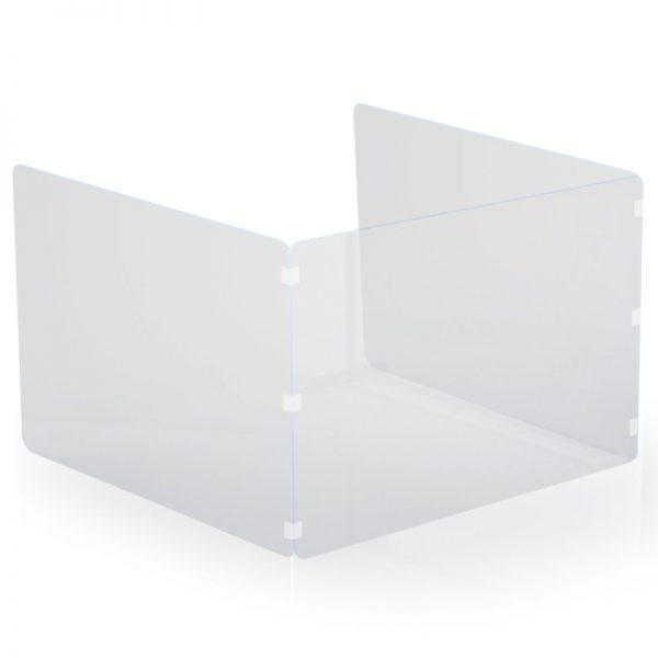 Osłona z pleksi na biurko z bocznymi ściankami
