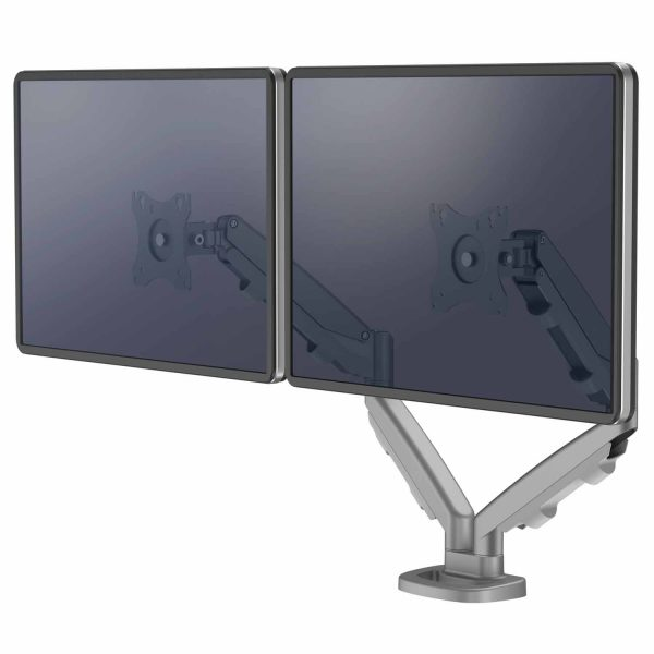 www 9683301 Ramie na 2 monitory Eppa srebrne Screen L
