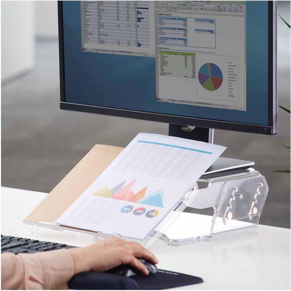 www 9731201 Regulowana podstawa pod monitor i dokumenty Clarity lifestyle
