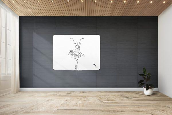 Qboard grey wall room