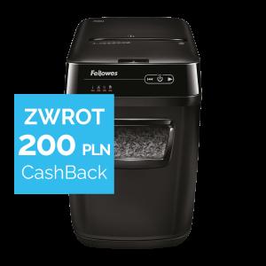 Niszczarka Fellowes AUTOMAX 200M + Zwrot 200 zł w promocji CashBack od Fellowes
